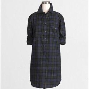 J crew plaid tunic with pocket